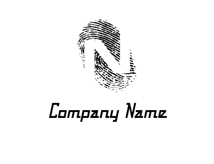 Letter N in fingerprint logo