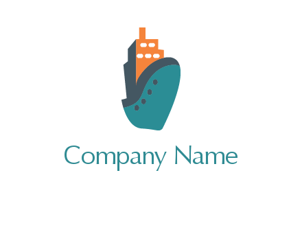 deck-house ship transport logo