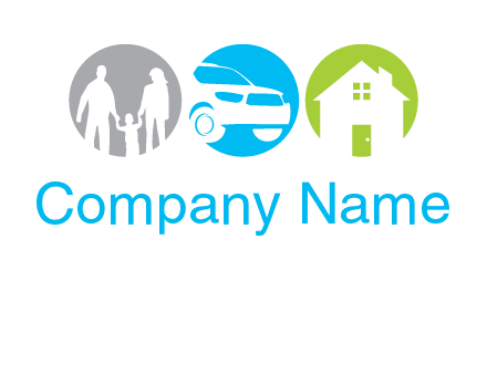 family car house insurance logo