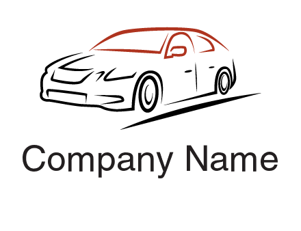 outline of sedan car logo