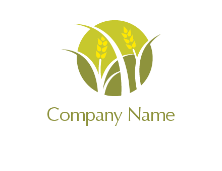 wheat stalks in colored circle logo
