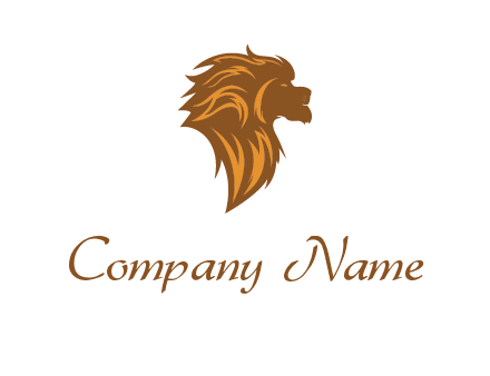 side profile lion head logo