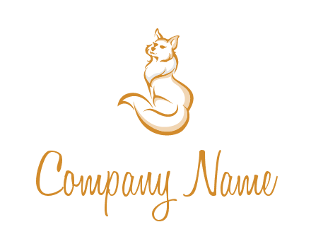 Persian cat pet logo