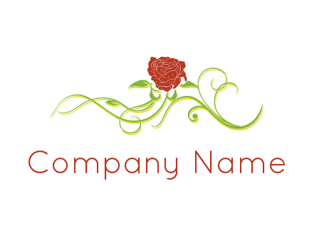 rose and vines ornate logo
