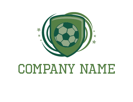 soccer ball in a shield logo