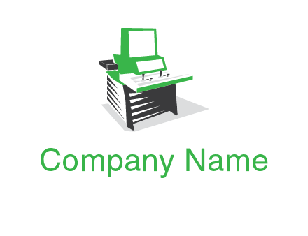 computer or cash register logo