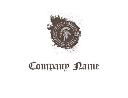 coin logo with a knight helmet illustration