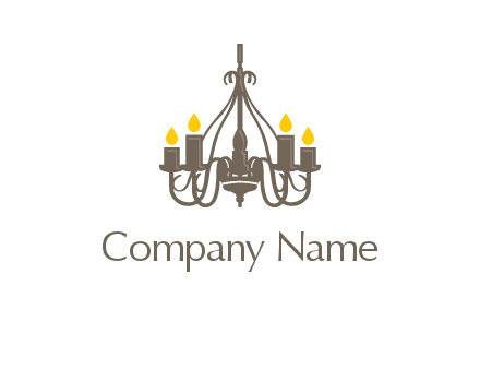 candles on a chandelier logo