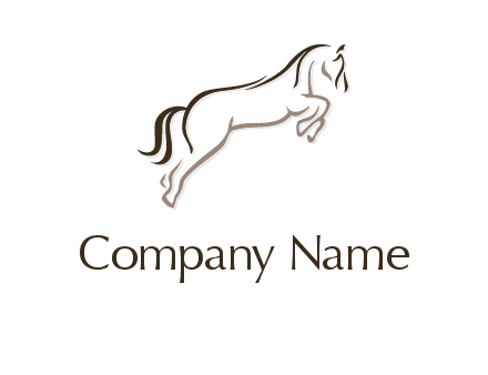 jumping stallion or horse logo