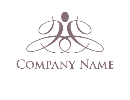 cursive person logo