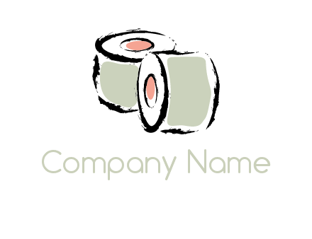 sushi rolls or toilet paper logo