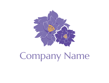 purple lisianthus flowers logo