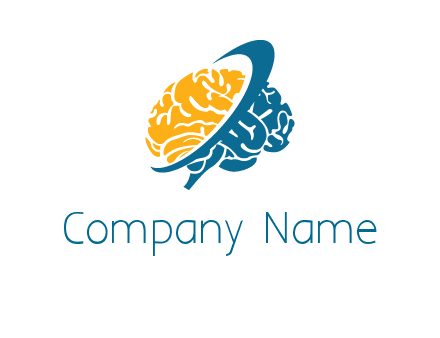 crescent surrounding the brain logo