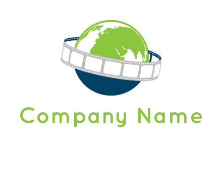 film reel around the globe logo