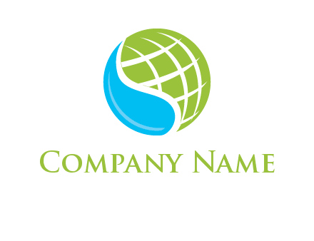 water globe agriculture logo design