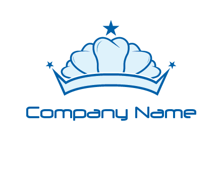 teethes forming crown with star logo