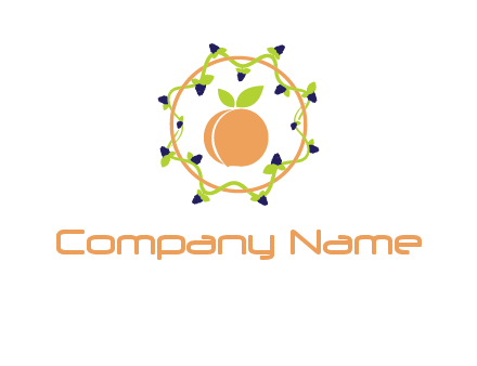 orange in circle with berries logo