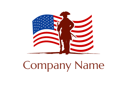 patriot and flag logo