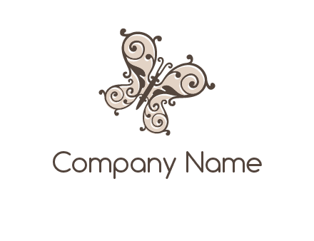 ornament butterfly logo