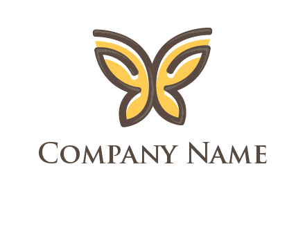 butterfly outline logo
