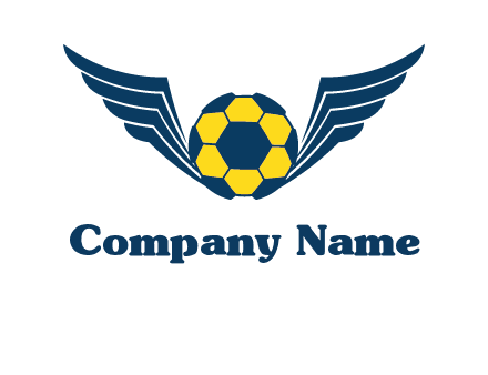 soccer ball with wings logo