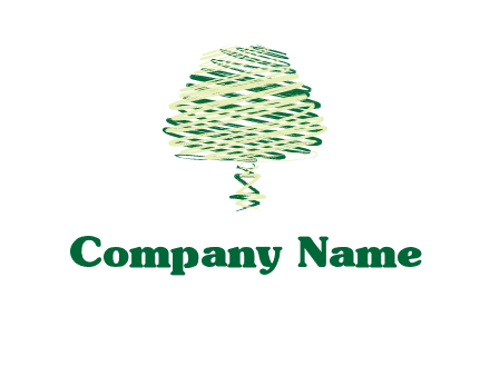 scribble tree logo