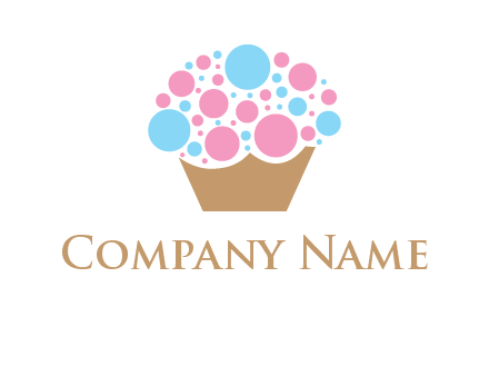circles on cupcake food logo
