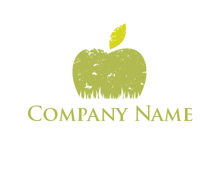 green apple grunge healthcare logo