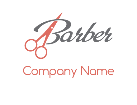 scissors in barber logo