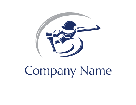 cricket batsman sports logo