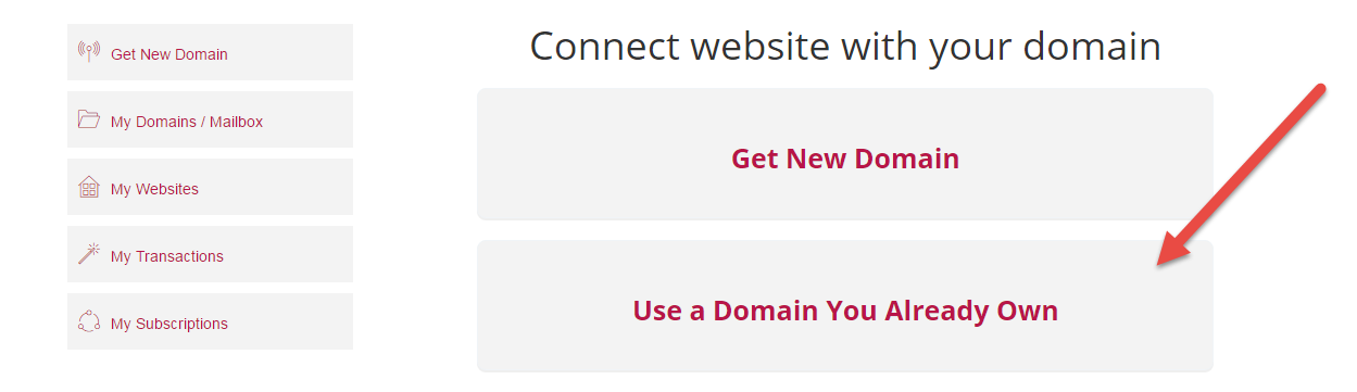 How can I point a domain I already own to my website on DesignMantic?